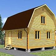 Дом из профилированного бруса с мансардой, размер 6х6м (проект 2Д-7) фото