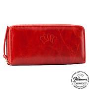 Кожаное портмоне Аликанте (красное) фото