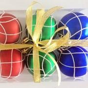 """Набор елочных шаров """"Кружевная зима"""", 6 шт, 6 см, разноцветные матов., (MILAND) фото"""