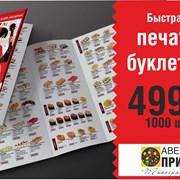 Буклет евро. Печать 2-3 дня любой тираж. фото