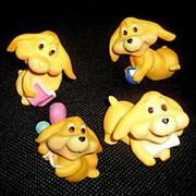 Сувенир Малые жёлтые собаки 1/4 фото