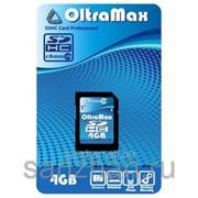 Карта памяти microSD 4 Gb+SD адаптер 6 класс 87225 фото