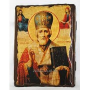 Икона под старину Николай Чудотворец (размер 17*23) фото