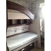 Набор мебели для детской комнаты (двухъярусная кровать, шкаф-купе) фото