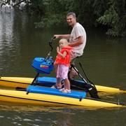 Водный велосипед, катамаран, лодка фото