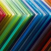 Листы(2.1х6 и 12 м.) сотового поликарбоната 4мм. Цветной фото