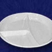 Тарелка одноразовая 205 мм 3-секц. Тарелки одноразовые от производителя фото