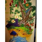 Декоративная роспись в интерьере фото
