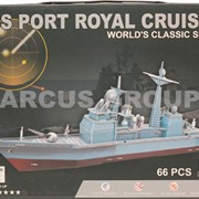 3D puzzle картонный пиратский корабль, 5 моделей, в коробке фото