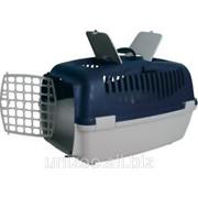 Контейнер для перевозки животных с пластиковой дверью СИНИЙ Capri III Trixie фото