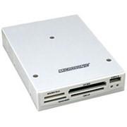 Считыватель карт памяти картридер панель в корпус для 3.5 разъём USB 2.0 Af Microsonic CR09 - светло-серый фото