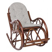 Кресло-качалка Classic коньяк (100х60х125см) с подушкой фото