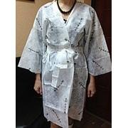 Стильный Халат - Кимоно одноразовый, с рукавом, не просвечивается, плотность 30 фото