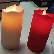 Свечки разноцветные большие светодиодные фото