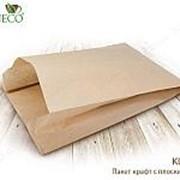 Крафт пакет с пл. дн., 250*100*390 мм(бумага, плотность бумаги:40 г/м) - бумажные крафт пакеты фото