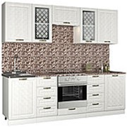 Прямой кухонный гарнитур ПМ: РДМ Агава 2.4 м фото