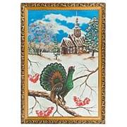 "Картина ""Глухарь зимой"" багет 46х66 см фото"