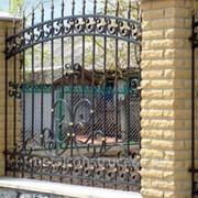 Забор с художественной ковкой №13 фото