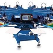 Полуавтоматический трафаретный станок карусельного типа для печати по текстилю Sportsman EX, M&R фото