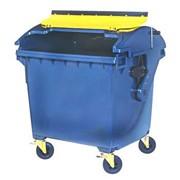 4х-колесный контейнер 1100л металлический крашенный (эмаль) фото
