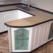 Столешницы кухонные из искусственного акрилового камня фото