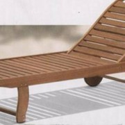 Мебель деревянная садовая Шезлонг фото