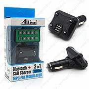 FM Модулятор Bluetooth Car Charger Allison Black фото
