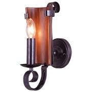 BZ008-1W Teksan бра, Цвет: Чёрный, коричневый фото