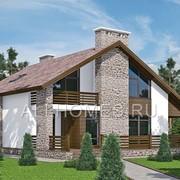 Проект загородного дома в альпийском стиле L-255-1P фото
