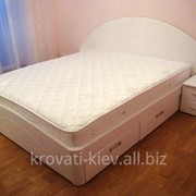 Кровать белая деревянная в Одессе фотография