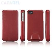 Чехлы SGP Argos Leather Case Red для iPhone 4/4S фото