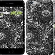 Чехол на iPhone 6 Чёрно-белая хохлома 1092c-45 фото