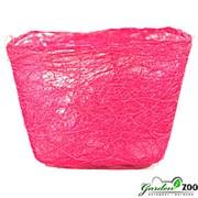 Корзина 100*140*145 квадратная родамин из сизаля фото