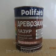 Алкидный цветной лак Древозахист Лазурь Полифарб 0,7 кг орех темный фото