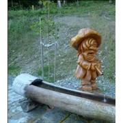 Скульптуры из дерева Водолей, матеріал — липа, висота: 0,7м фото