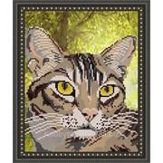 """Рисунок на ткани для вышивания бисером """"Полосатый кот"""" VKA4336 фото"""