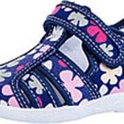 421023-11 син-цве туфли летние дошкольные текстиль Р-р 26 фото