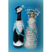 Одежда на свадебные бутылки фото