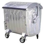 Оцинкованный мусорный контейнер 1100 литров фото
