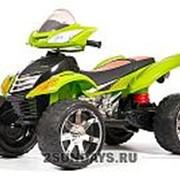Детский электроквадроцикл BARTY Quad Pro зеленый фото
