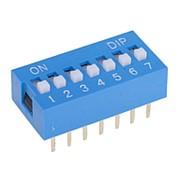 DIP переключатель 7P синий фото
