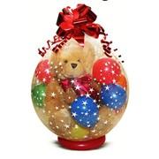 Упаковка подарка в шар фото