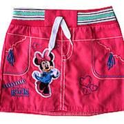 Детская джинсовая юбка Мики на 1-4 года малиновая, код товара 254163956 фото