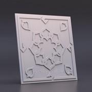 "3D панель гипсовая ""САМАРКАНД"" размер 50х50 см фото"