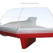 Витрина угловая с высоким стеклом НЕМИГА EXTRA УН 90 фото