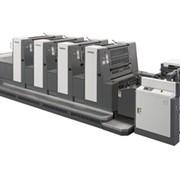 Листовые офсетные печатные машины Индустриального класса с печатными и впереди печатными цилиндрами двойного диаметра SHINOHARA 75 формата В2 (510 x 740 мм), выпускаются в - 4; - 5 цветным комплектации. продажа Украина фото