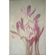 "Картина ""Цветы"" холст/масло фото"