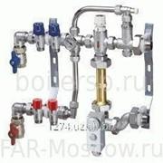 Сборный регулирующий узел для напольного отопления, 3 отвода, отводы Евроконус, артикул FK 3489 13403 фото