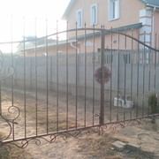 Кованые декоративные ворота фото