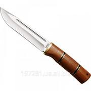 Нож охотничий Grandway 2285 W, рукоять - красное дерево, латунь фото